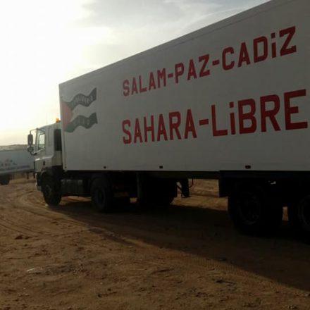 Llegada caravana desde Andalucía a los campamentos