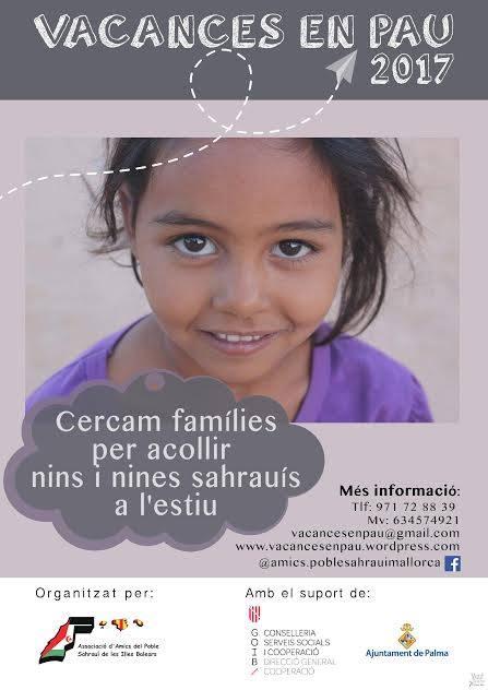 """Acull un somriure acull un infant sahraui, Acoge una sonrisa da la bienvenida a un niño saharaui """""""