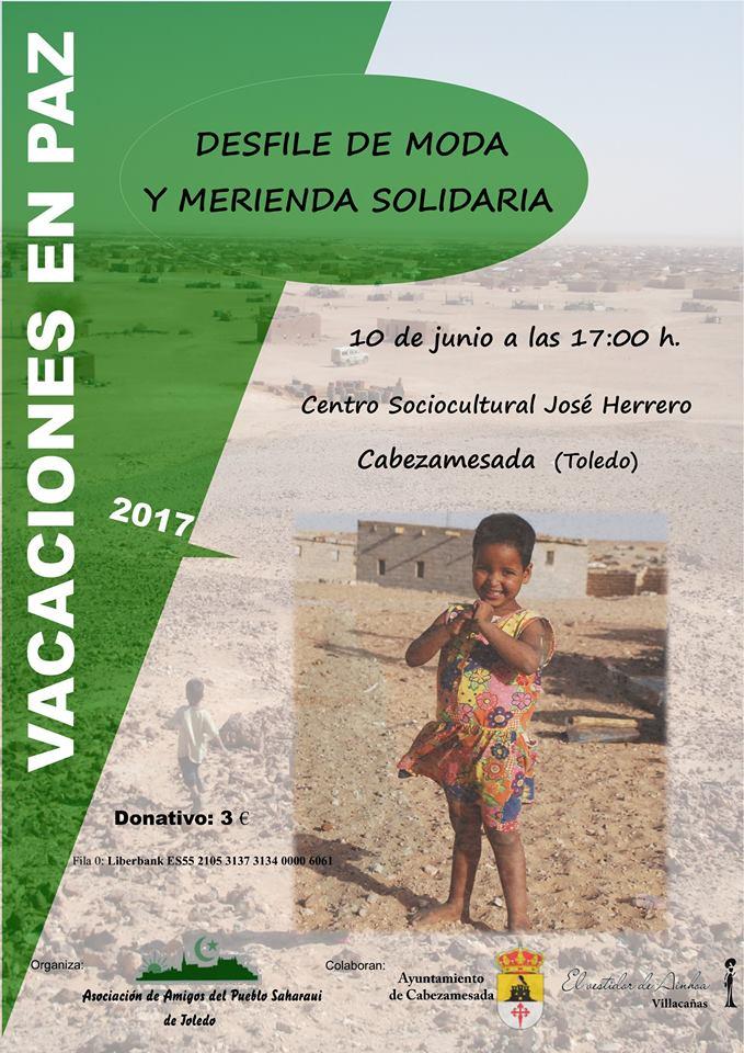 Desfile y merienda solidaria a favor de Vacaciones en Paz