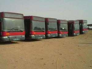 Sevilla: Llegada autobuses a los campamentos de población refugiada saharaui