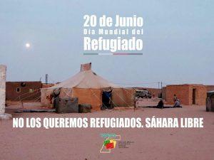 Andalucía: No los queremos refugiados. Por un Sáhara libre, hoy y hasta la independencia.