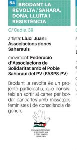 Brodant La Revolta /sahara, Dona, Lluita y resistència