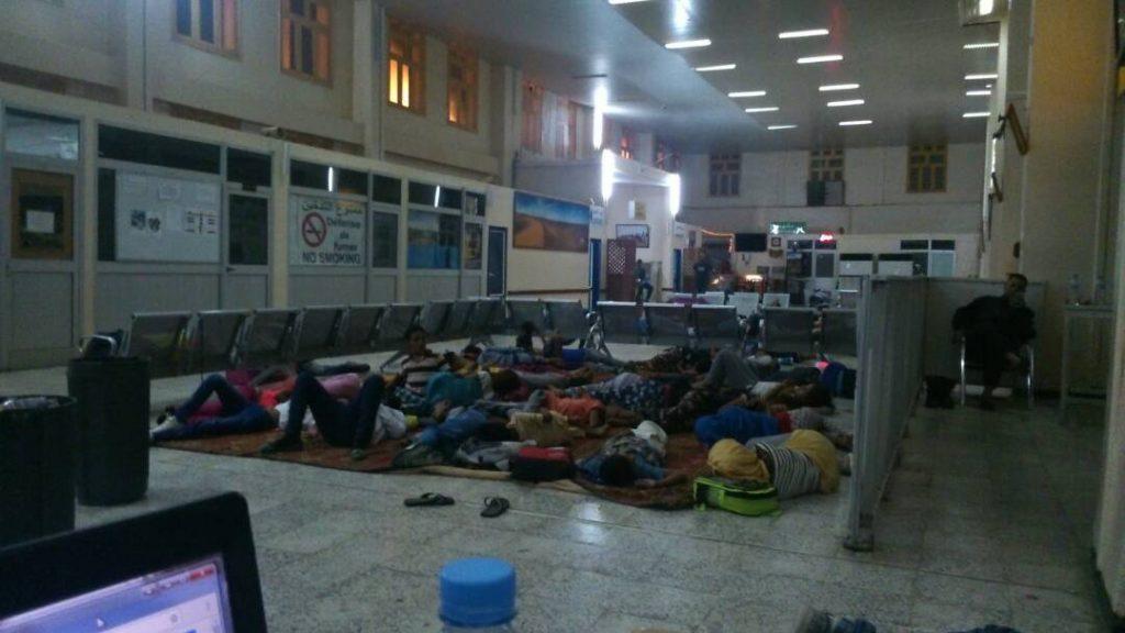 Tindouf retraso vuelos por tormentas