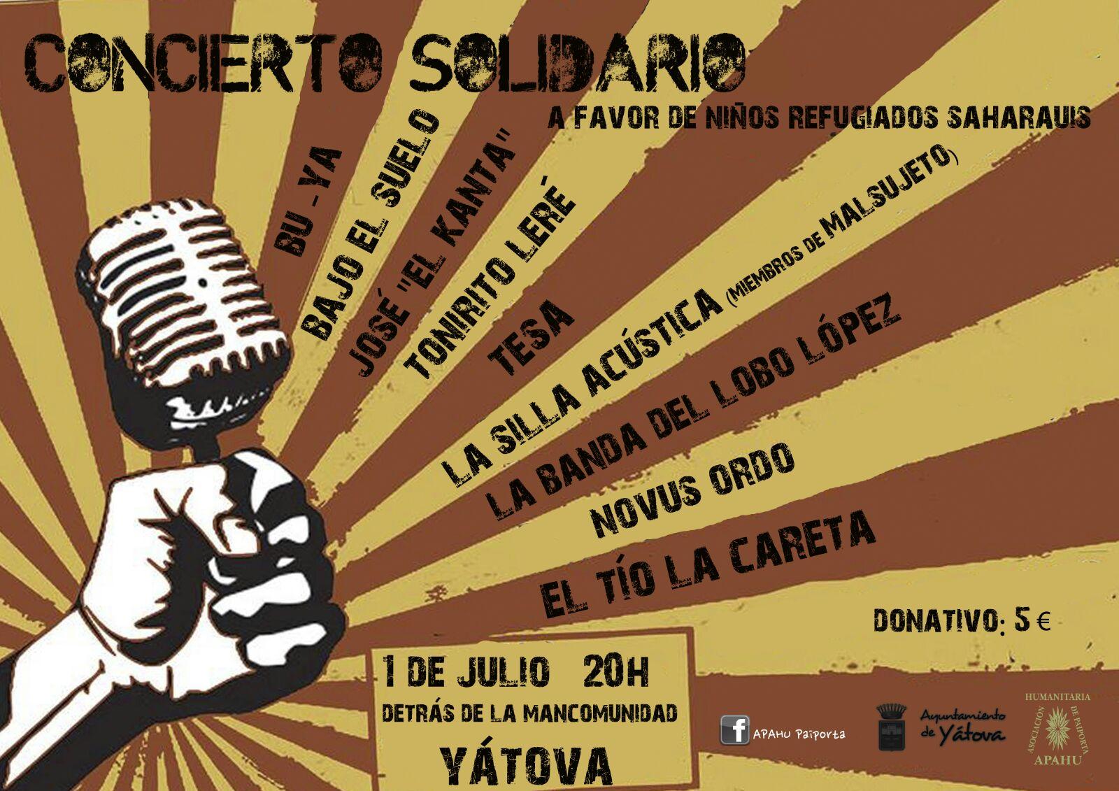 Concierto solidario Yátova Sahara
