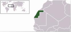 Mapa Sahara mundo