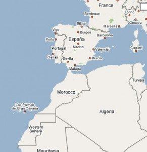 Sahara respecto España