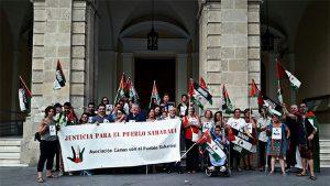 Concentración en Sevilla por los presos políticos saharauis