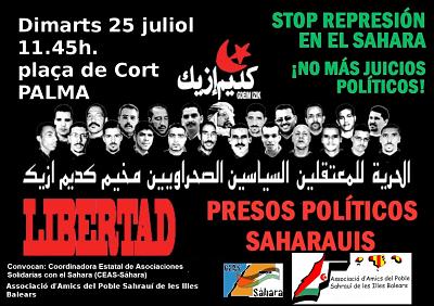 Baleares: Concentracion sentencia Gdeim Izik