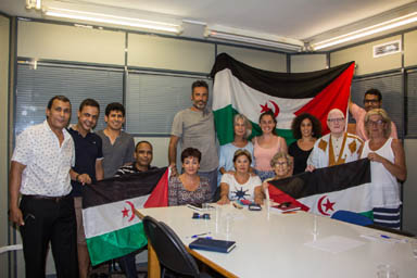 Baleares: Presentación oficial del nuevo delegado y subdelegado del Frente Polisario en las Islas Baleares con los miembros de AAPSIB