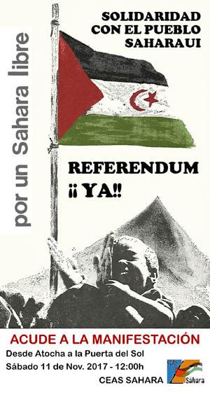 Nota de prensa: Contra la intransigenciae impunidad de Mohamed VI, contra el silencio cómplice del Estado Español y la UE, por la libertad del pueblo saharaui