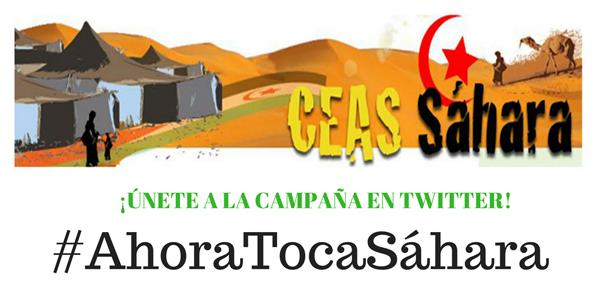 ¡ÚNETE A LA CAMPAÑA EN TWITTER! #AhoraTocaSáhara