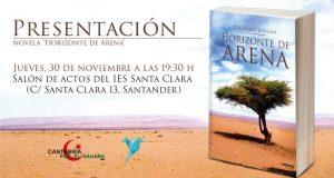 """Presentación de la novela """"Horizonte de Arena"""", de Eduardo Jordán"""