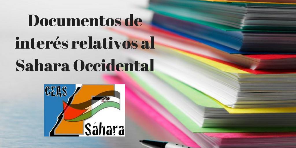 Documentos Sahara Occidental