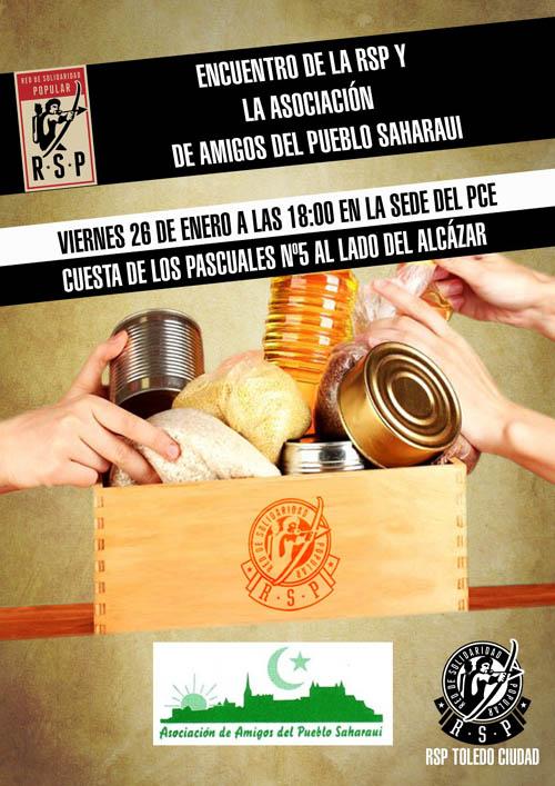 Encuentro solidario entre la RSP y la Asociación de Amigos del Pueblo Saharaui de Toledo