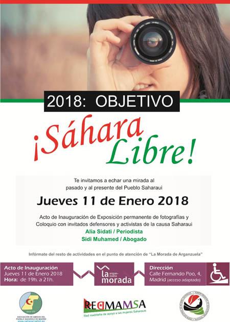 Acto de inauguración Objetivo Sáhara Libre ( 11 de enero) en La Morada Arganzuela