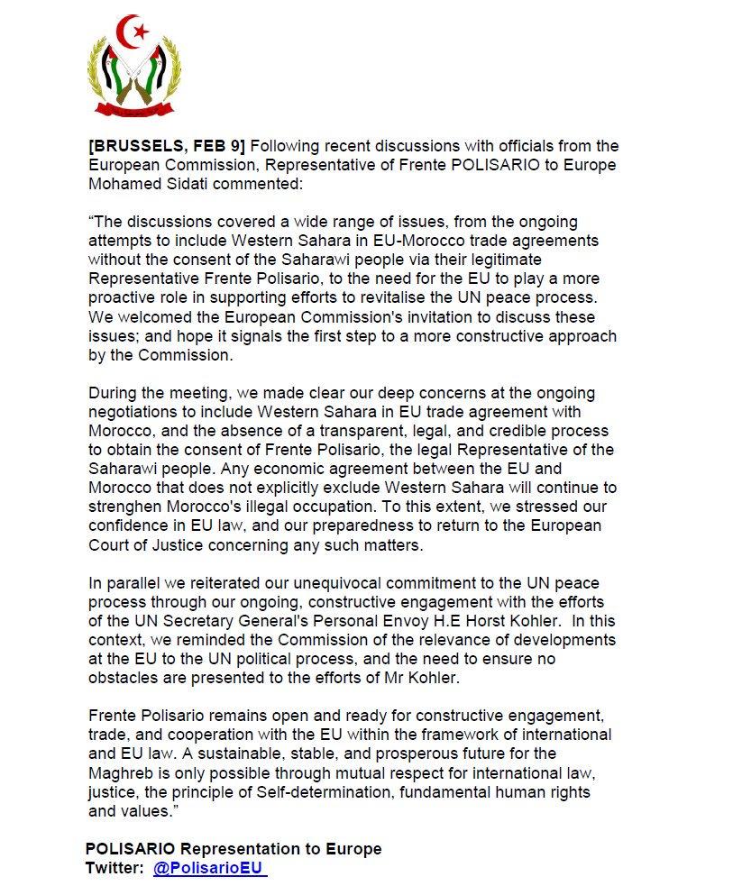 Acuerdo de pesca UE-Marruecos: Polisario en la mesa de negociaciones
