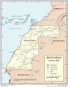 Mapa MINURSO 2018