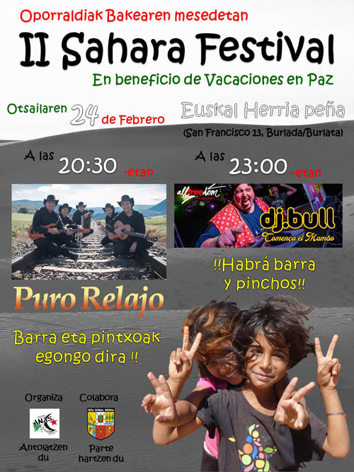 Navarra: II Sahara Festival en beneficio de Vacaciones en paz