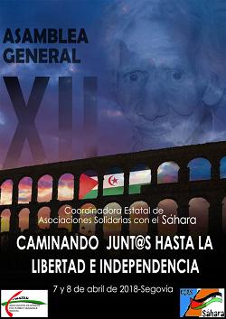 RESOLUCIÓN FINAL DE LA XII ASAMBLEA GENERAL DE CEAS SAHARA, SEGOVIA, 7 Y 8 DE ABRIL DE 2018