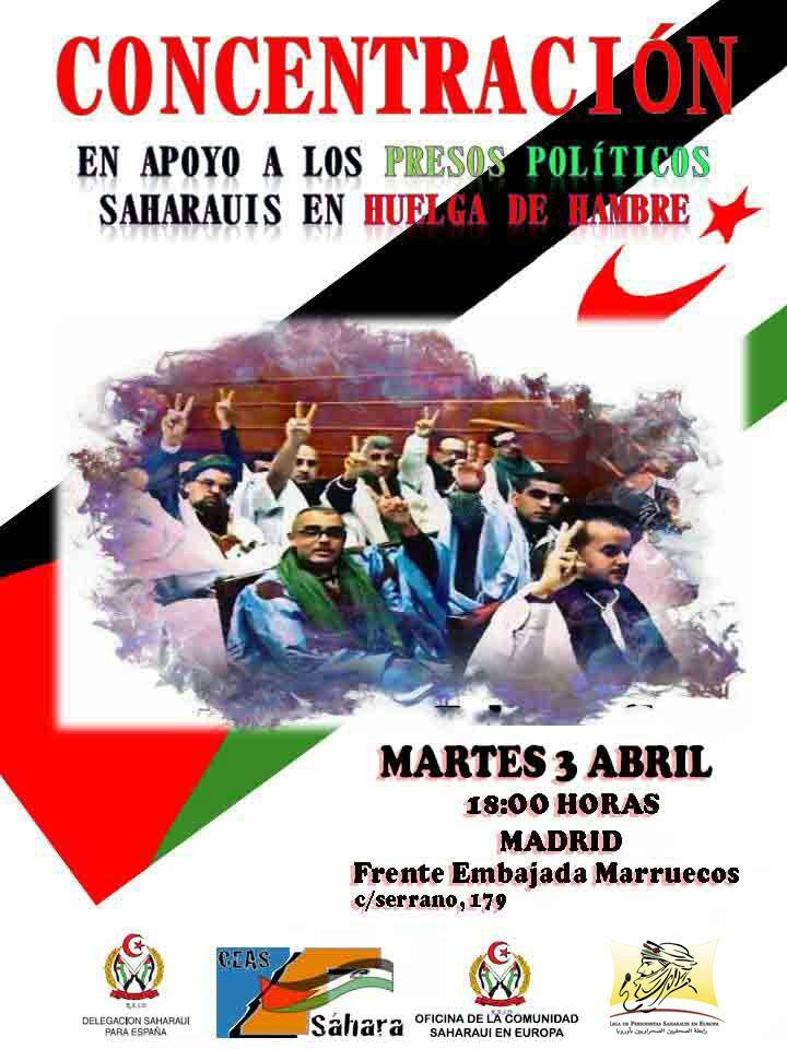 Las vidas de los presos políticos saharauis encarcelados en  Marruecos corren grave peligro
