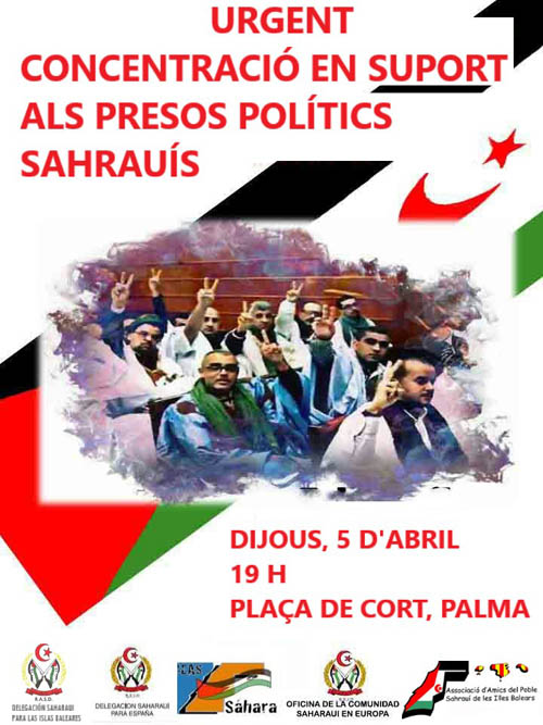 AAPSIB =>Urgente:Concentración en apoyo a los presos políticos saharauis