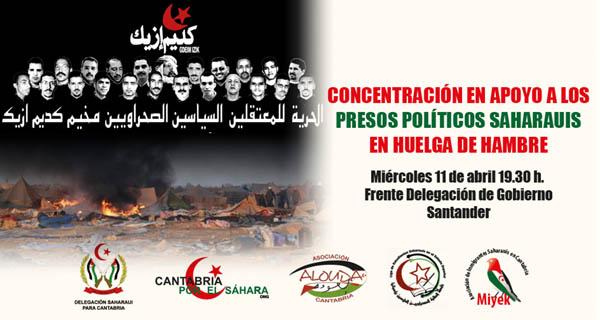 Convocatoria de concentración en apoyo presos políticos saharauis