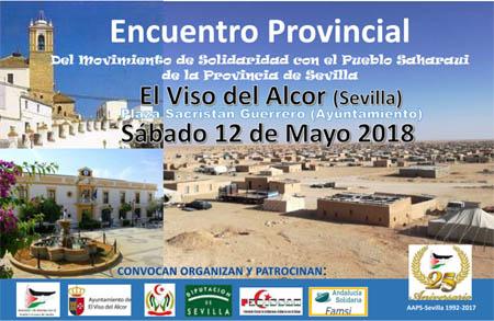 Encuentro provincial de apoyo a pueblo saharaui. Sábado 12 de mayo, El Viso de Alcor