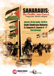 Cartel de la charla en Torrelavega
