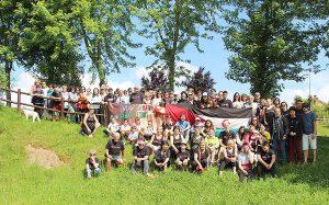 Grupo de participantes en la Quedada de Cóbreces