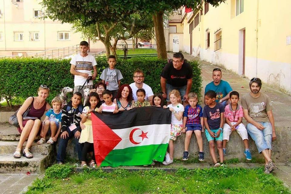 Foto del último grupo de saharauies a Cantabria