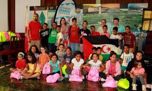 Recepción de los menores saharauis en el Ayuntamiento de Santander
