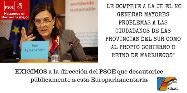 Ines Ayala PSOE traiciona al Pueblo Saharaui