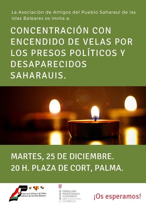concentración de apoyo a los presos politicos y desaparecidos saharauis Recibidos