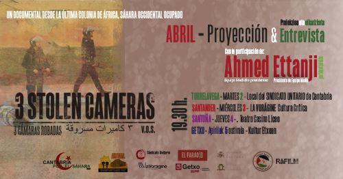 """Cantabria: Proyección documental saharaui """"3 cámaras robadas"""""""
