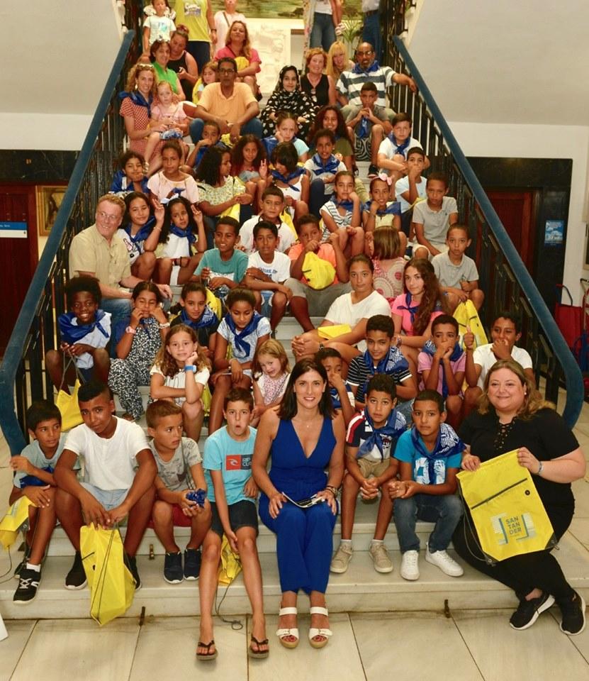Niños de vacaciones en Paz 2019 en el Ayuntamiento de Santander
