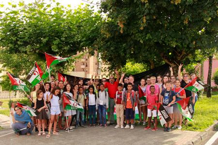 Grupo de menores saharauis de Cantabria