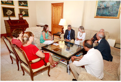 Reunion Baleares Ministro Sanidad Publica de la RASD