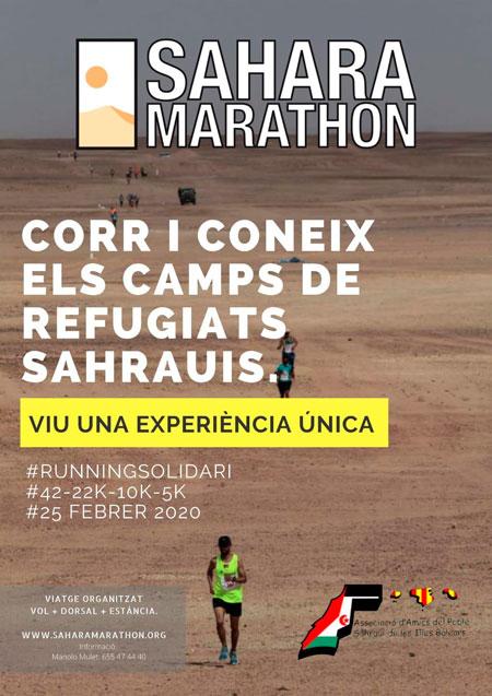 Cartel Sahara maratón 2020