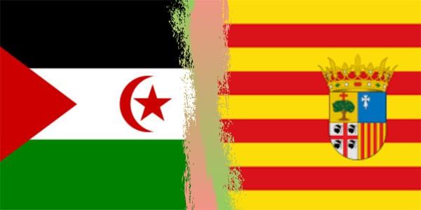 Bandera Sáhara y aragon