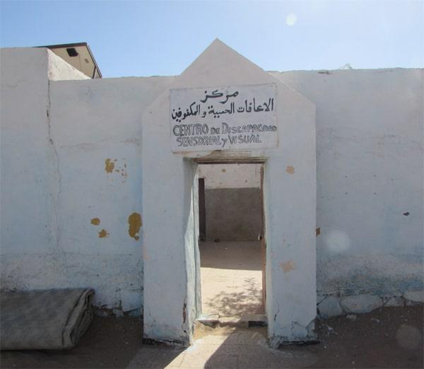 Entrada del centro de educación especial de Smara