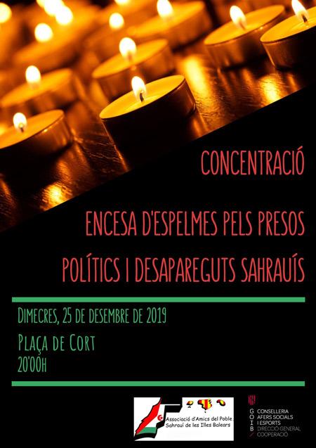 Cartel de la concentración en Palma