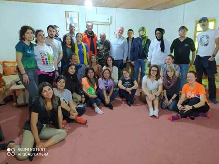 Grupo participante en la maratón sahara