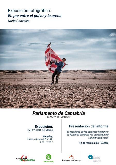 Cartel de la exposición en el parlamento de cantabria