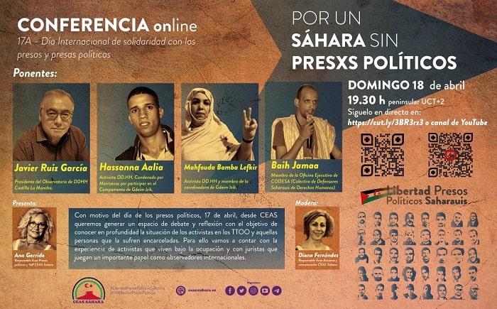 Conferencia: Por un Sahara sin presos políticos